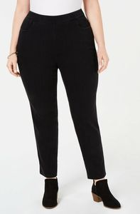 NEW ALFRED DUNNER PLUS SIZE 16W BLACK PANTS WORK